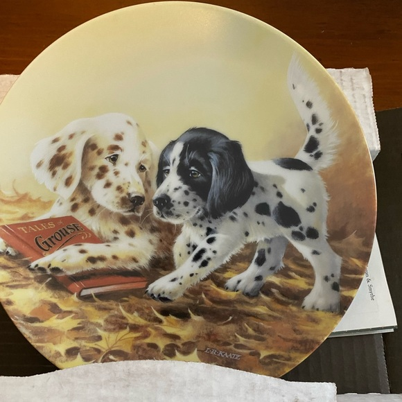 Puppy tales by Edwin knolls collector plate
